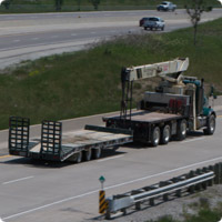 flat-bed-crane-truck-with-trailer
