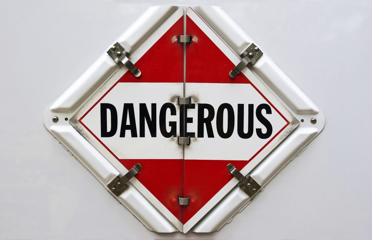 A Dangerous Hazmat placard for transportation vehicles
